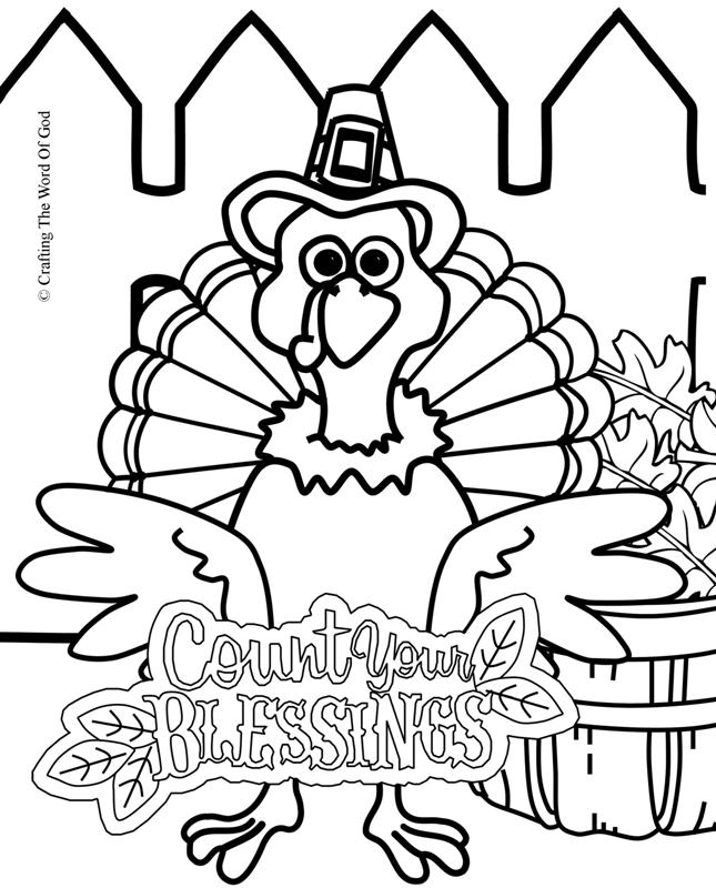 645x800 Count Your Blessings Turkey Coloring Page Crafting The Word Of God