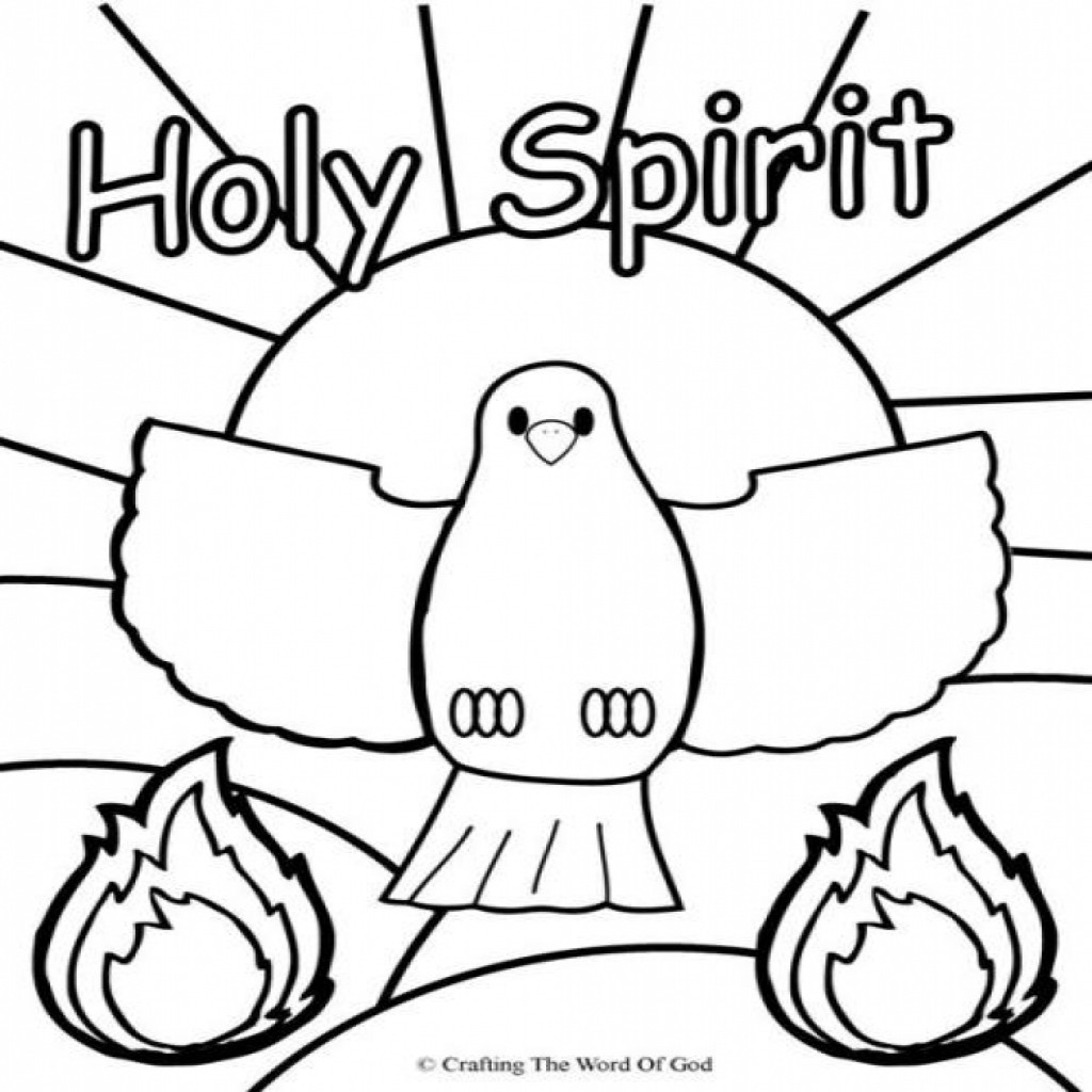 1024x1024 Jesus Promises The Holy Spirit Coloring Page