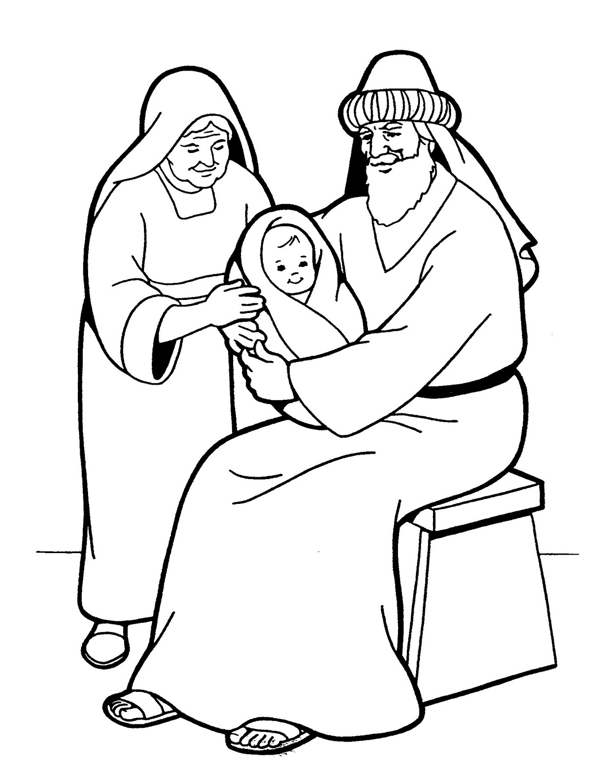 1233x1600 Mary And Elizabeth Coloring Pages