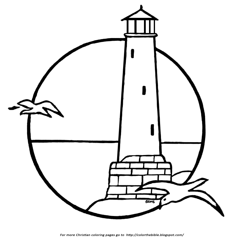 785x800 A Lighthouse Coloring Page Color The Bible
