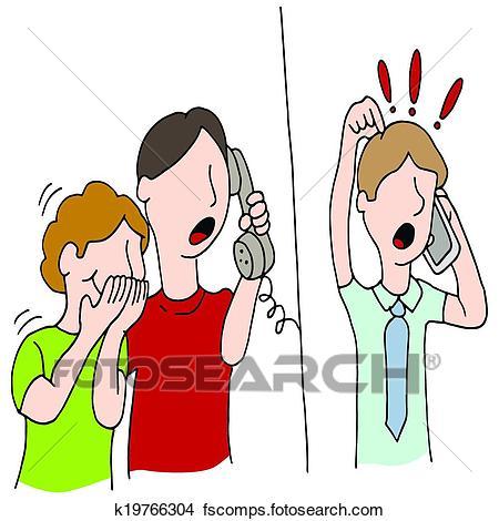 450x470 Clipart Of Crank Call Practical Joke K19766304