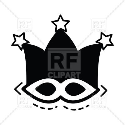 400x400 Joker Mask On White Background Royalty Free Vector Clip Art Image