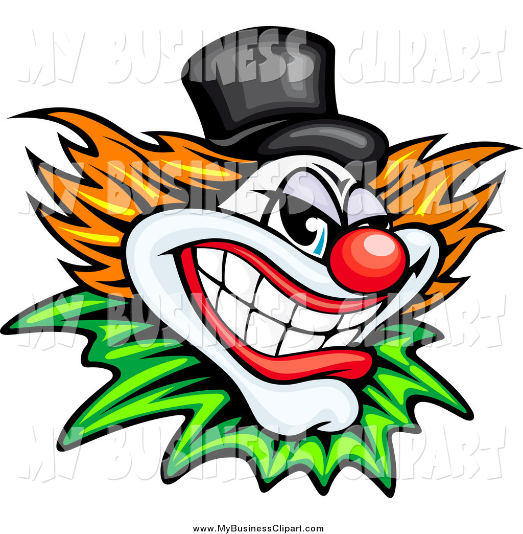 1024x1044 Vector Clip Art Of A Evil Clown Or Joker With A Top Hat By Vector