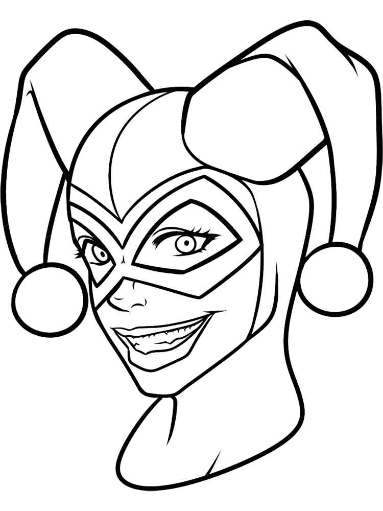 750x1000 Harley Quinn Coloring Pages Black And White Harley