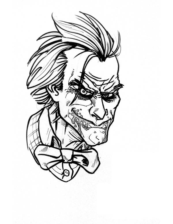 600x777 Joker Coloring Page