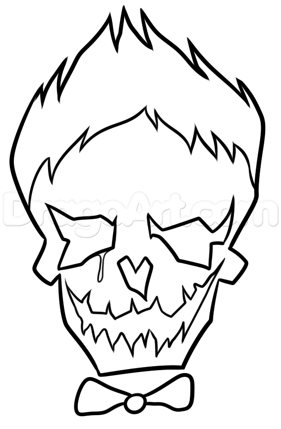 567x867 Suicide Squad Joker Skull Coloring Cute Coloring Pages