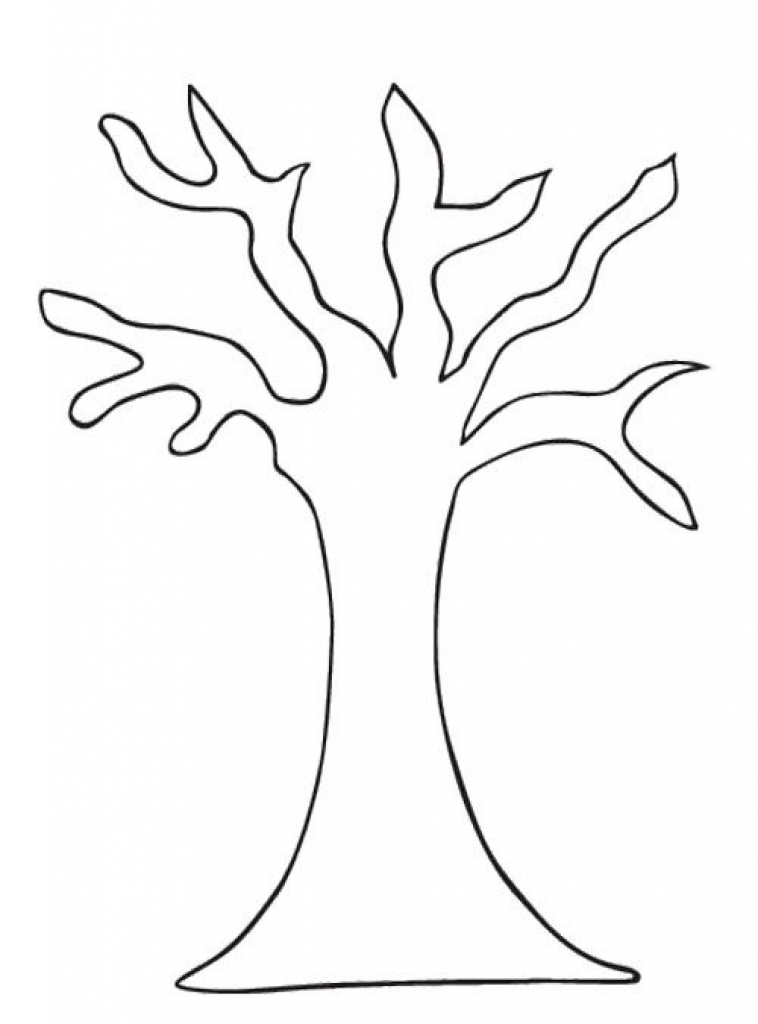 758x1024 The Amazing Bare Tree Coloring Page For Your Own Home
