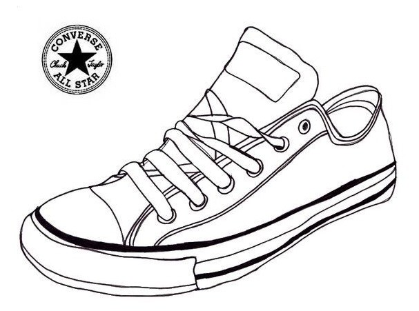 Jordan Shoes Coloring Pages Free