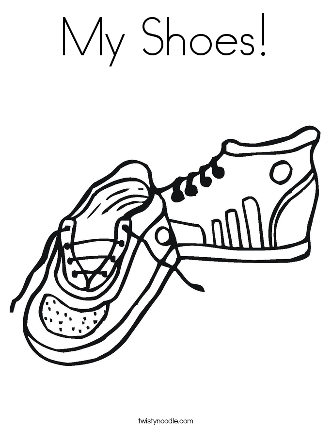 685x886 My Shoes Coloring Page