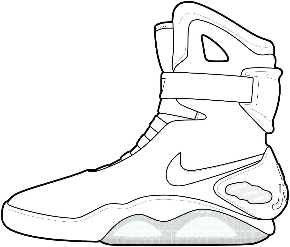 Jordan Shoes Coloring Pages Free Download Best Jordan Shoes