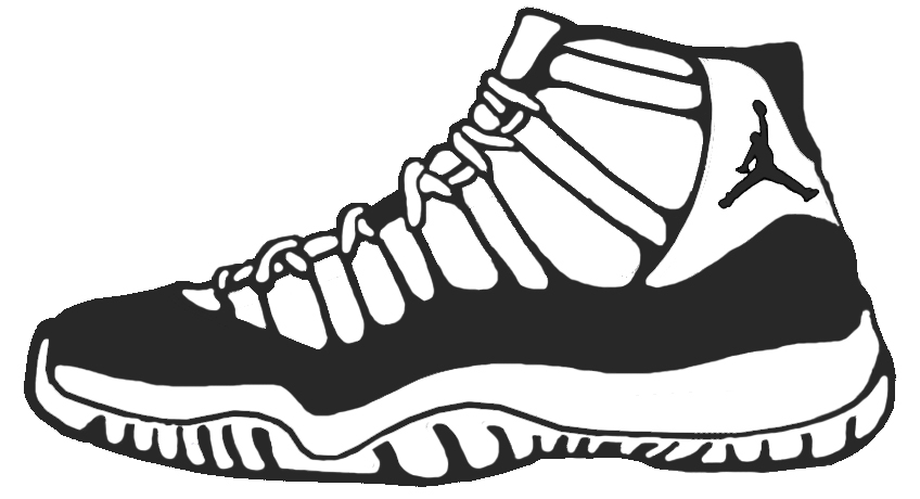 848x460 Basketball Shoes Coloring Pages