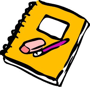 300x291 Pencil Eraser And Journal Clip Art