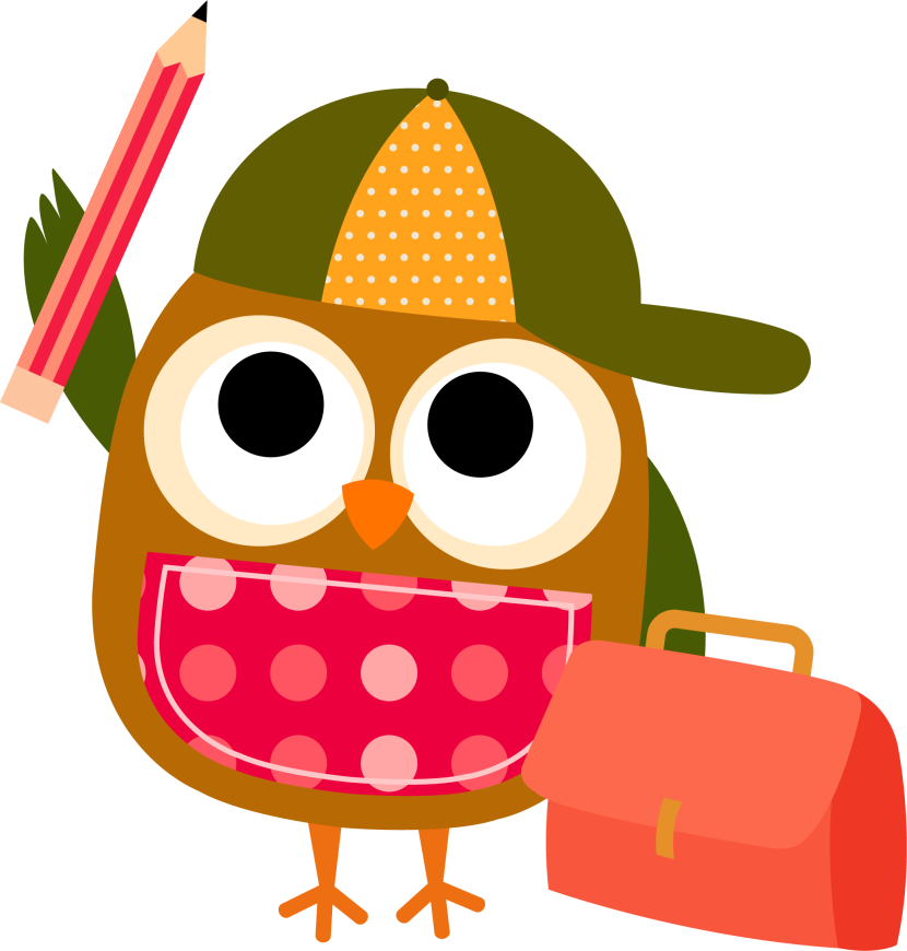 830x870 Writing Smart Owl Clip Art