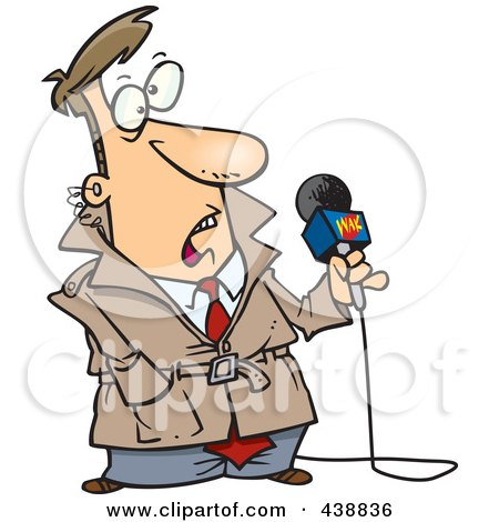 450x470 Royalty Free (Rf) News Reporter Clipart, Illustrations, Vector