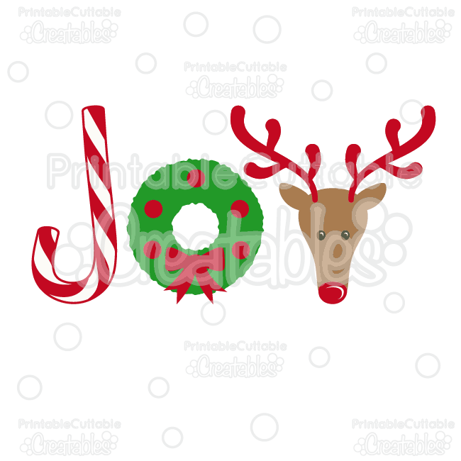 650x650 Joy Christmas SVG Cutting File amp Clipart