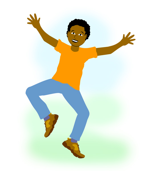 530x600 Jumping For Joy Clipart