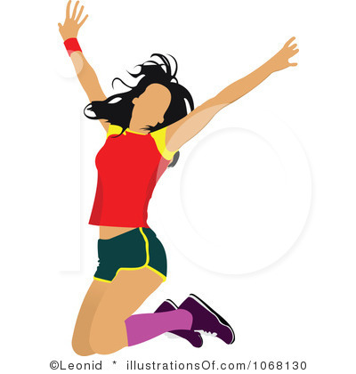 400x420 Person Jumping For Joy Clipart