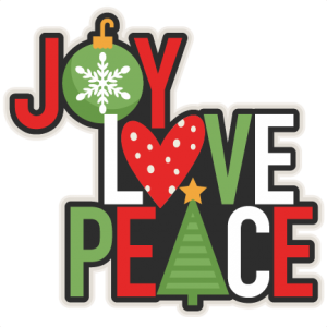 300x300 Joy Love Peace Christmas Title Scrapbook Cut File Cute Clipart
