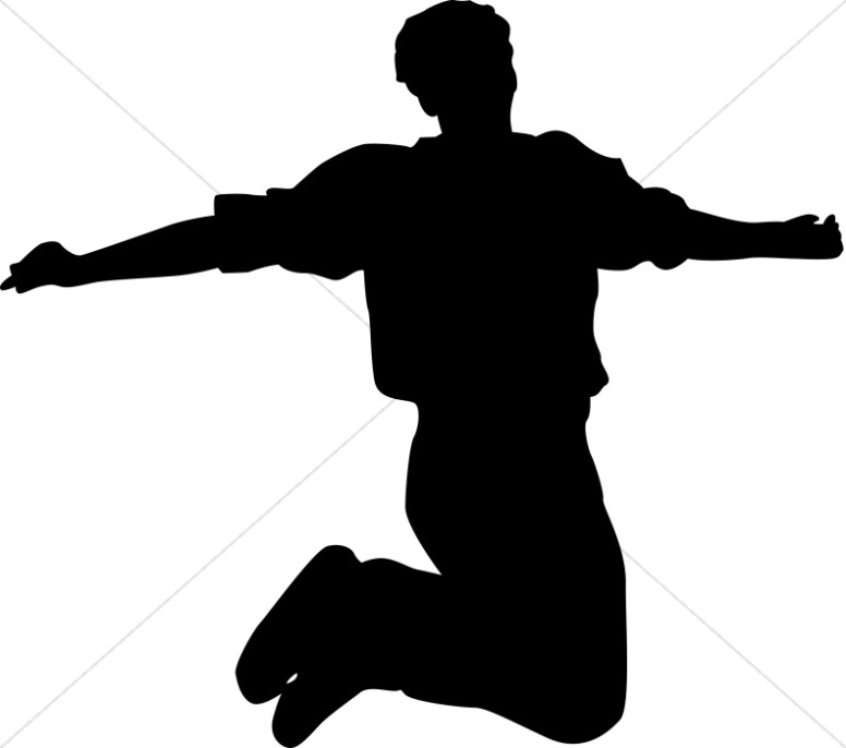776x686 Jumping For Joy Praise Clipart