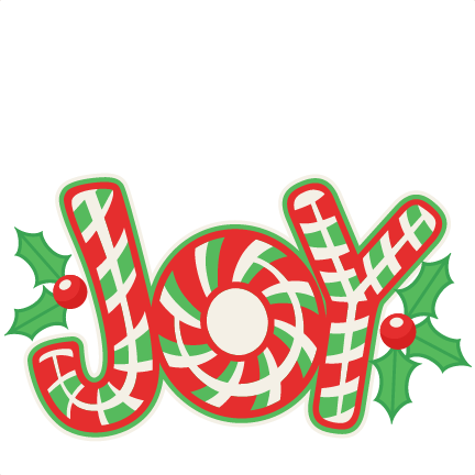 432x432 Christmas Candy Cane Joy Title Svg Scrapbook Cut File Cute Clipart