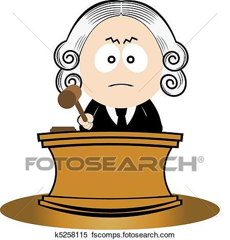 450x470 Clipart Of Judge Using His Gavel K5258115