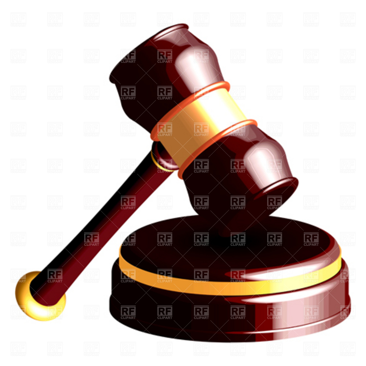 1200x1200 Judge Gavel And Book Of Law Royalty Free Vector Clip Art Image