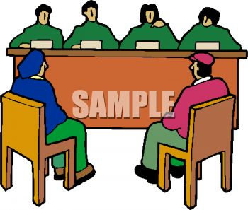350x297 Royalty Free Clipart Image Competitors Seated In Front