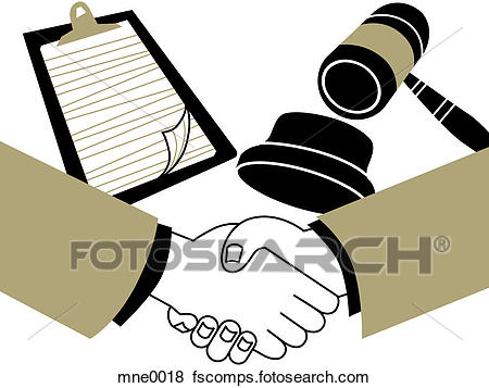450x357 Stock Illustration Of Two Hands Shaking In Front Of A Clipboard