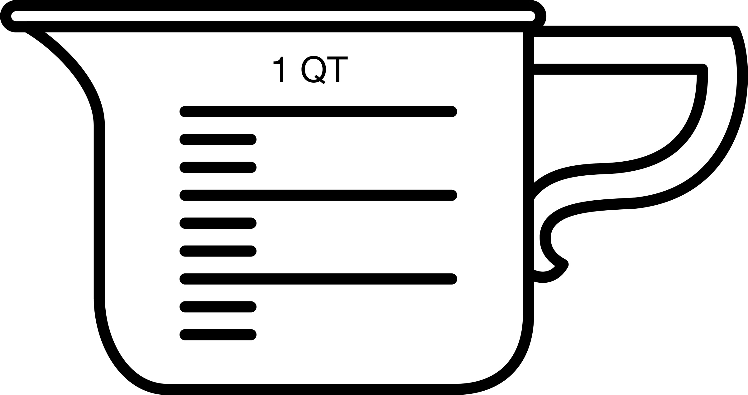 2400x1266 Measuring Cup Clipart Black And White Letters Example
