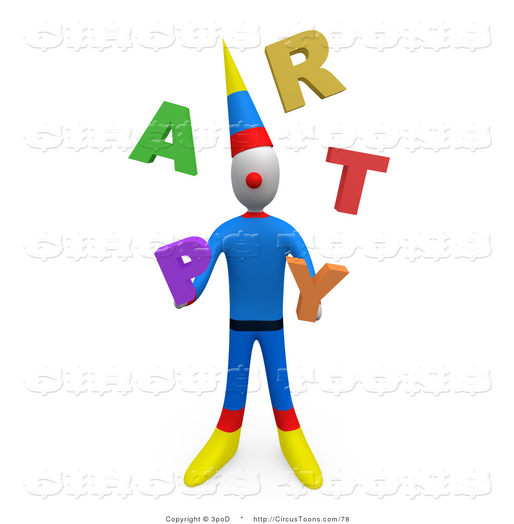 1024x1044 Circus Clipart Of Party Clown Juggling The Word Party In