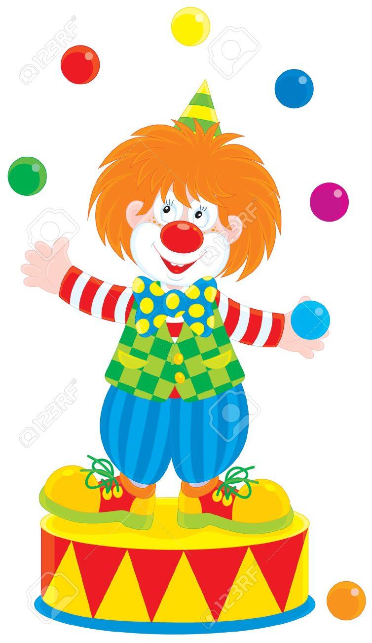 754x1300 Circus Clown Juggler Royalty Free Cliparts, Vectors, And Stock