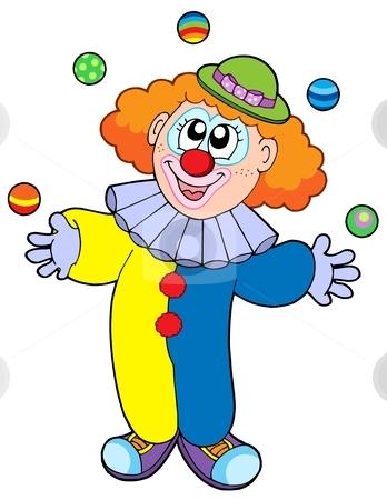 348x450 Clown Juggling Clipart
