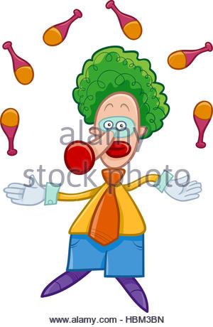 300x460 Juggler Clown Stock Photo, Royalty Free Image 81808704