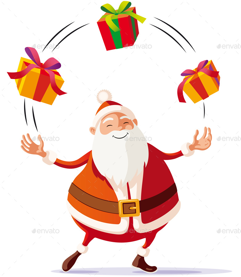 782x900 Santa Claus Juggler By Toniodeloro Graphicriver
