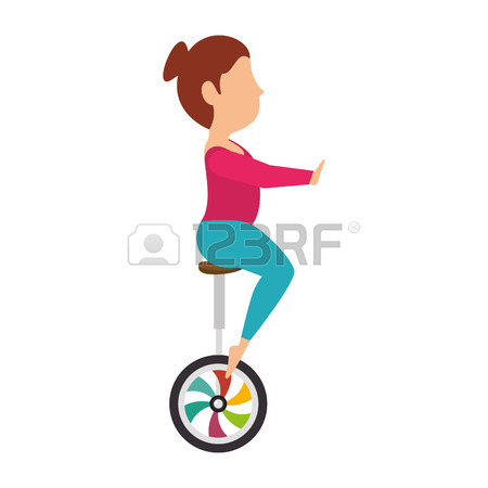450x450 Woman Juggler Acrobatics Show Cartoon Exercises Vector