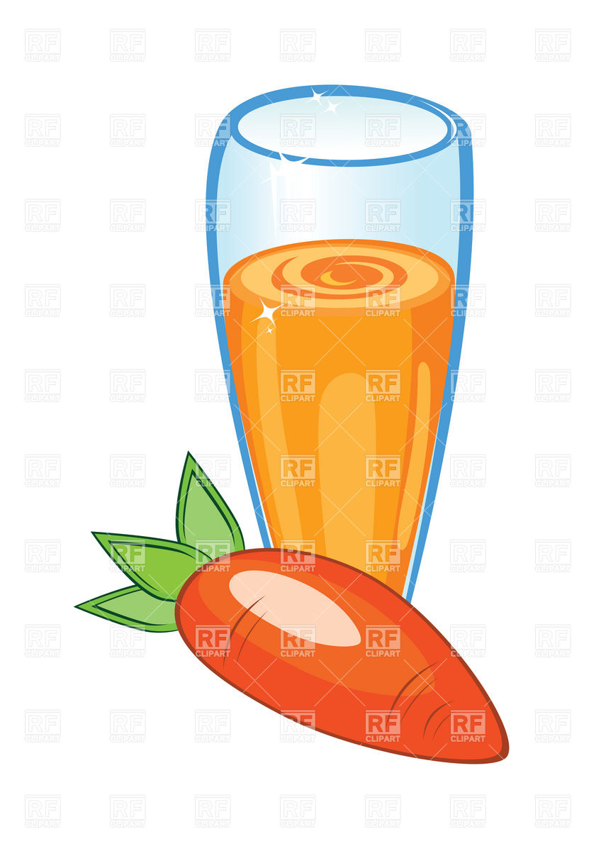 848x1200 Glass Of Carrot Juice Royalty Free Vector Clip Art Image