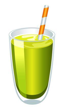 236x437 Green Juice Cliparts