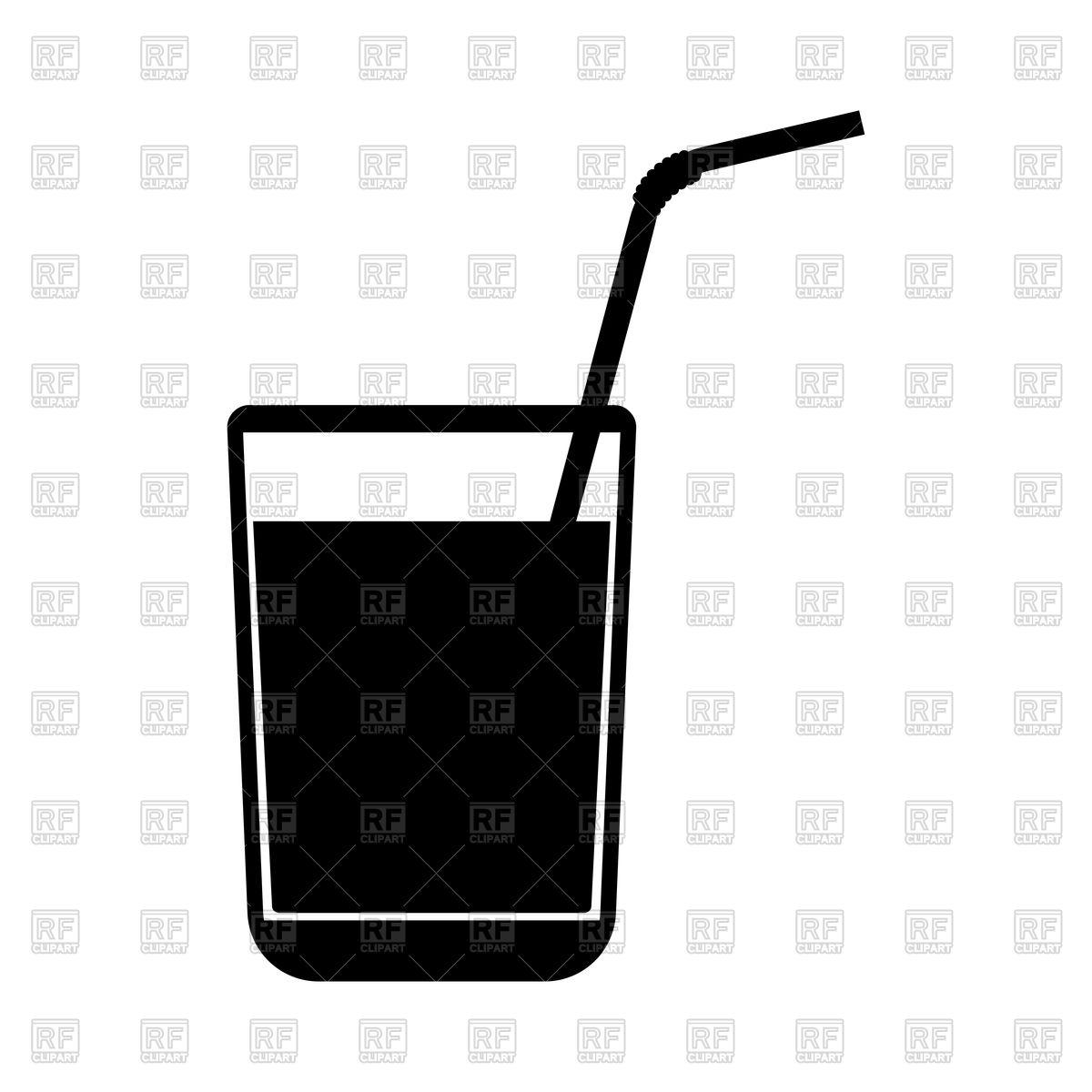 1200x1200 Juice Glass With Drinking Straw