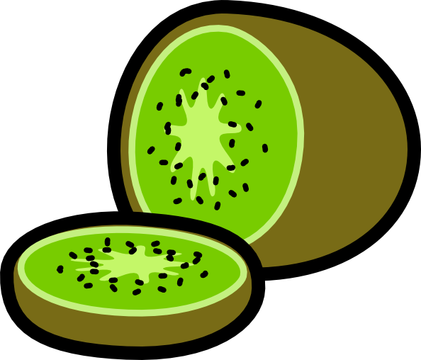 594x508 Kiwi And Kiwi Wedge Clip Art Free Vector 4vector
