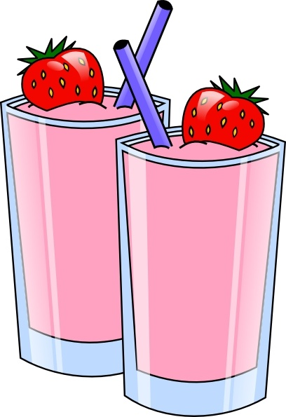 408x595 Strawberry Smoothie Drink Beverage Cups Clip Art Free Vector