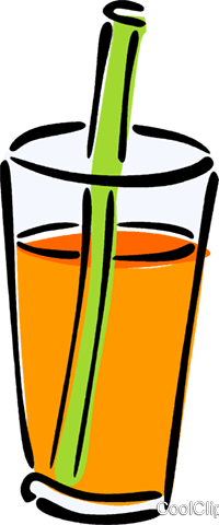 200x480 Glass Of Juice Royalty Free Vector Clip Art Illustration Vc014600
