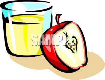 350x268 Apple Juice Clipart