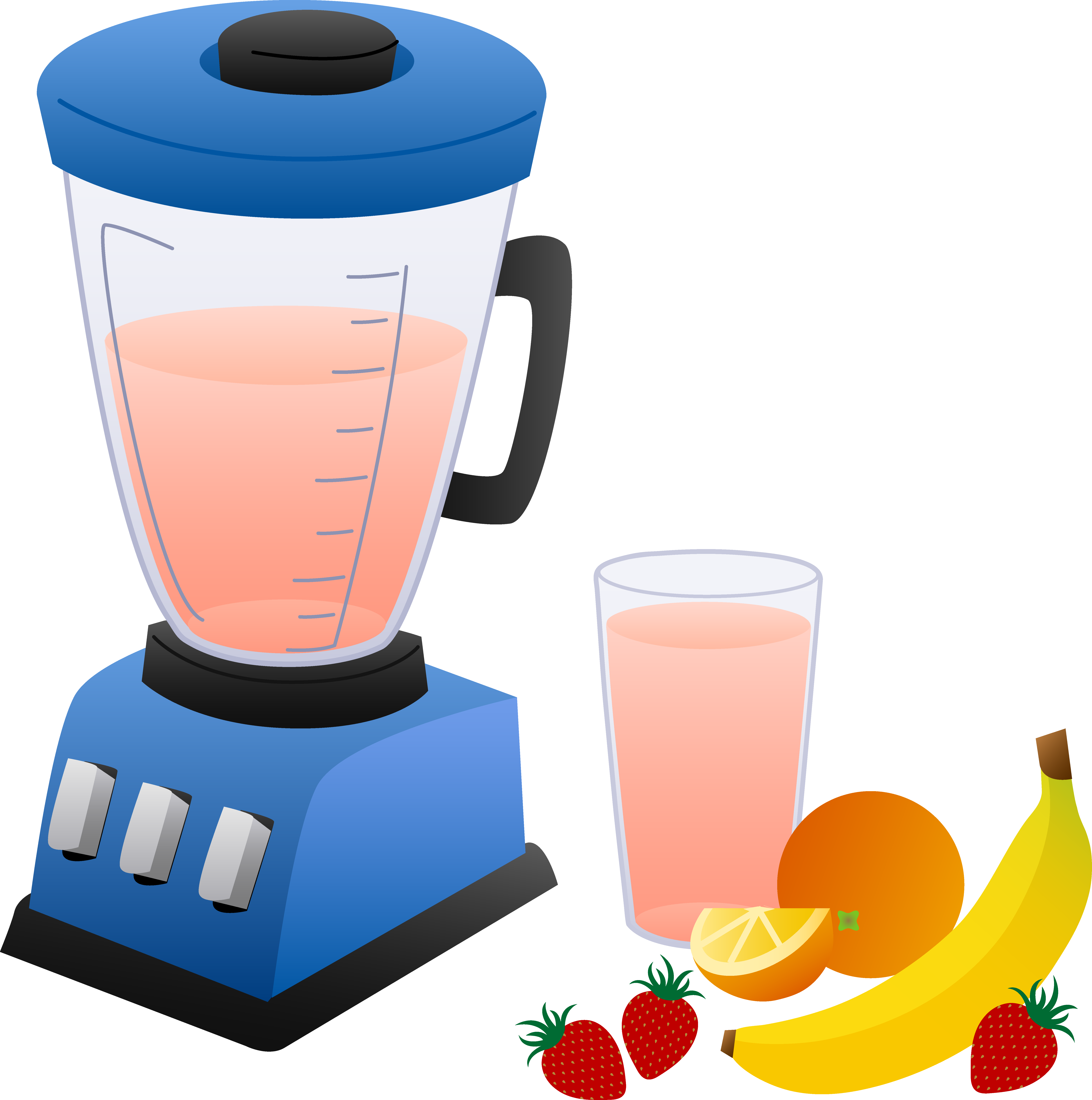 6591x6643 Blender With Fruits And Smoothie