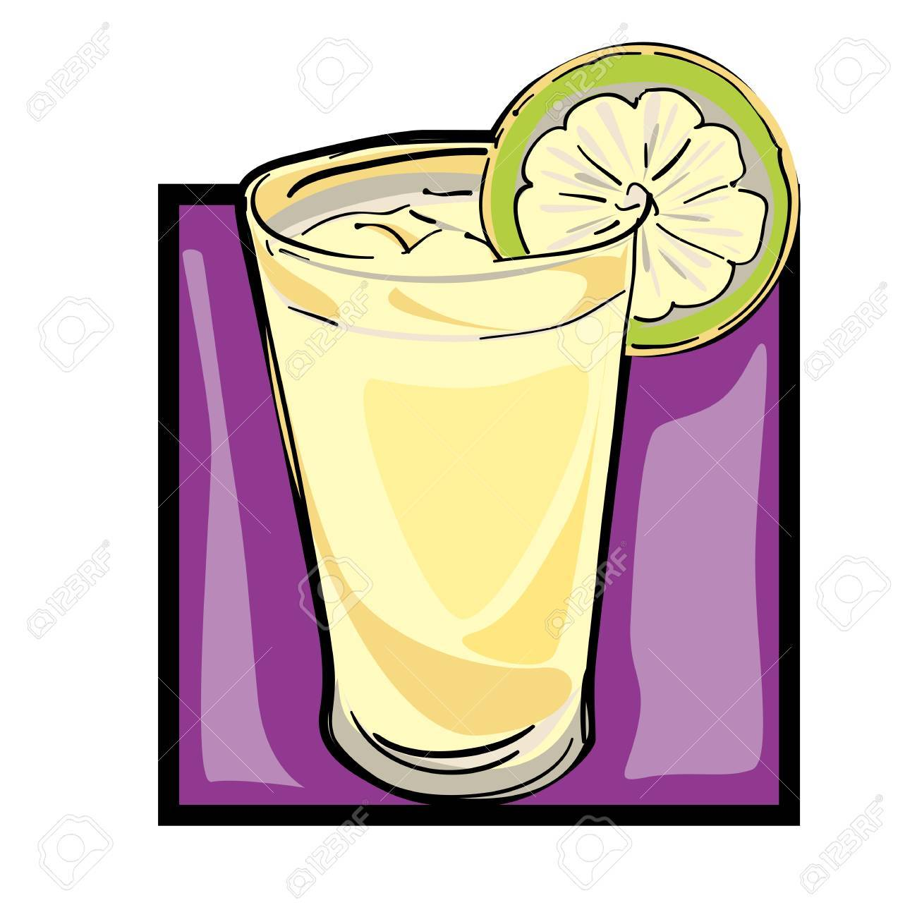 1300x1300 Classic Clip Art Graphic Icon With Lemonade Royalty Free Cliparts