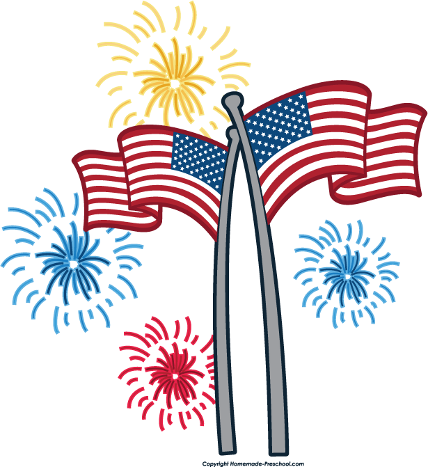 615x671 Fourth Of July 4th Of July Fireworks Border Free Clipart Images