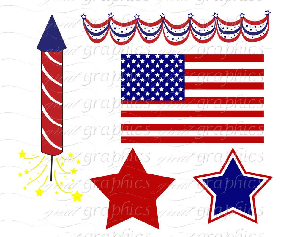 1000x800 4th Of July Digital Clip Art Printable Patriotic Digital Party