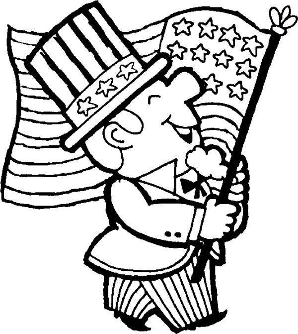July 4th Clipart Black And White