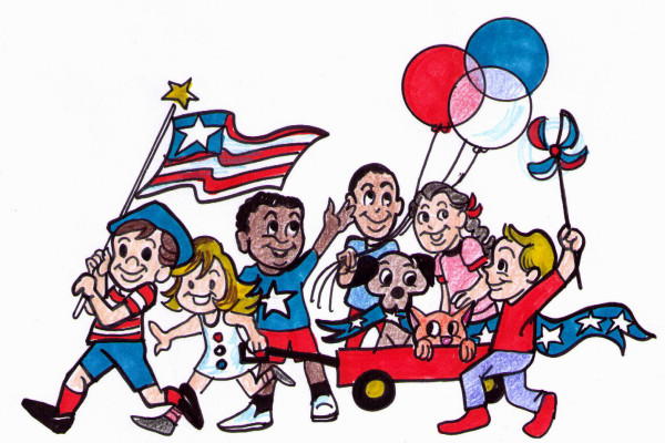 600x400 Parade 4th Of July Clipart, Explore Pictures