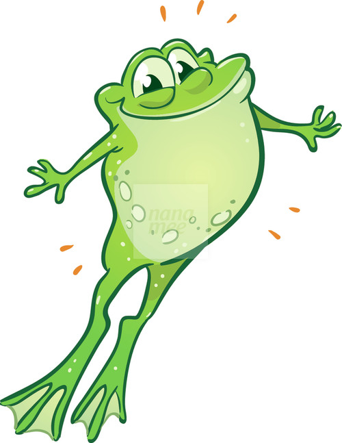 500x647 Hopping Frog Clipart Frog Clipart Frogs