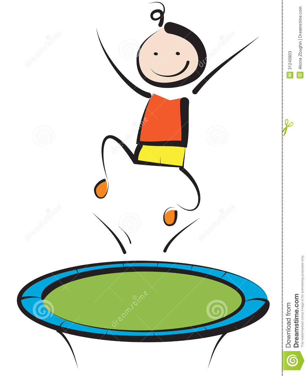 1065x1300 A Jump On Trampoline Clipart